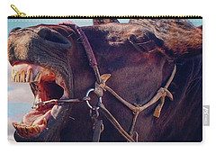 Horse Bare Teeth Carry-all Pouch by Ippei Uchida