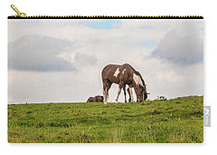 Horses And Clouds Carry-all Pouch