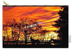 Carry-all Pouch featuring the photograph Horses And The Sky by Donald C Morgan