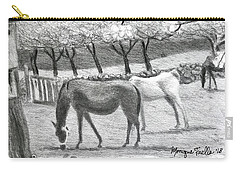 Horses And Trees In Bloom Carry-all Pouch