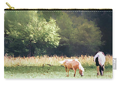 Carry-all Pouch featuring the photograph Horses by Andrea Anderegg