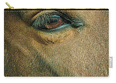 Carry-all Pouch featuring the photograph Horses Eye by Bruce Carpenter