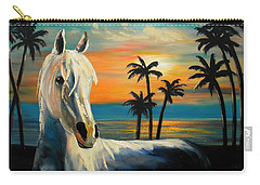 Horses In Paradise  Tell Me Your Dream Carry-all Pouch