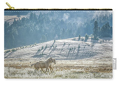 Horses In The Frost Carry-all Pouch by Keith Boone
