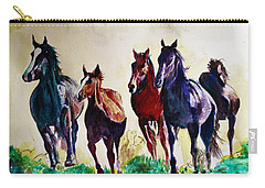 Horses In Wild Carry-all Pouch