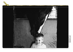 Horses Love Carry-all Pouch by Amanda Eberly-Kudamik