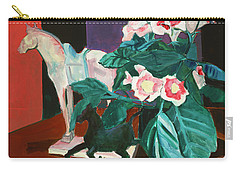 Horses With Floral Carry-all Pouch
