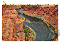 Carry-all Pouch featuring the photograph Horseshoe Bend Arizona - Colorado River #3 by Jennifer Rondinelli Reilly - Fine Art Photography
