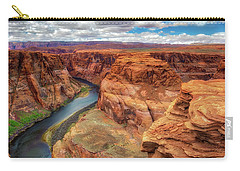 Carry-all Pouch featuring the photograph Horseshoe Bend Arizona - Colorado River $4 by Jennifer Rondinelli Reilly - Fine Art Photography