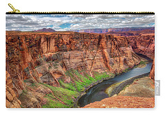 Carry-all Pouch featuring the photograph Horseshoe Bend Arizona - Colorado River #5 by Jennifer Rondinelli Reilly - Fine Art Photography