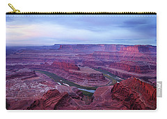 Carry-all Pouch featuring the photograph Horseshoe Bend At Dawn by Marie Leslie