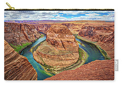 Carry-all Pouch featuring the photograph Horseshoe Bend - Colorado River - Arizona by Jennifer Rondinelli Reilly - Fine Art Photography