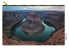 Carry-all Pouch featuring the photograph Horseshoe Bend by Margaret Pitcher