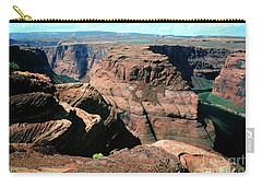 Horseshoe Bend Of The Colorado River Carry-all Pouch by Wernher Krutein