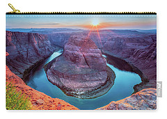 Horseshoe Bend Sunset Carry-all Pouch by David Cote