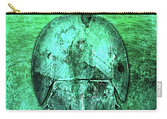 Carry-all Pouch featuring the digital art Horseshoe Crab by Doug Schramm