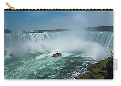 Carry-all Pouch featuring the photograph Horseshoe Falls Hornblower by Brenda Jacobs