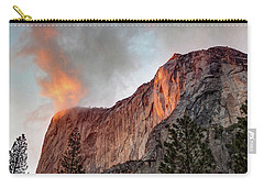 Horsetail Falls Cloudy Sunset Carry-all Pouch