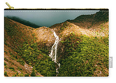 Horsetail Falls In Queenstown Tasmania Carry-all Pouch