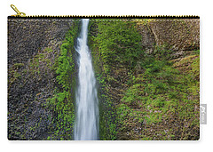 Carry-all Pouch featuring the photograph Horsetail Falls In Spring by Greg Nyquist