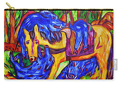 Horsey Tired From Carting Humungous Boars Carry-all Pouch by Dianne  Connolly