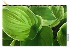 Carry-all Pouch featuring the photograph Hosta Summer Green by Ann Powell