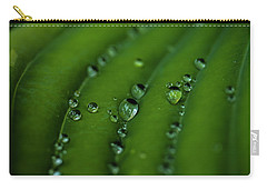Hostas And Raindrops Carry-all Pouch