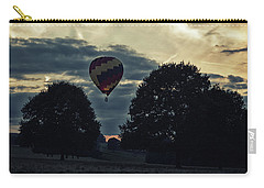 Hot Air Balloon Between The Trees At Dusk Carry-all Pouch
