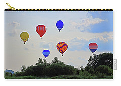 Carry-all Pouch featuring the photograph Hot Air Balloon Launch by Angela Murdock