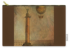 Carry-all Pouch featuring the digital art Hot Air Balloon Over St Petersburg And The Hermitage by Jeff Burgess