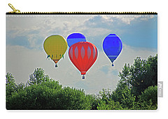 Carry-all Pouch featuring the photograph Hot Air Balloons In The Sky by Angela Murdock