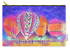 Hot Air Balloons Night Festival In Pastel Carry-all Pouch by Kirt Tisdale