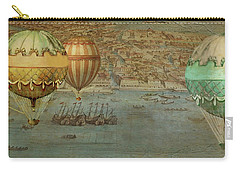 Carry-all Pouch featuring the digital art Hot Air Baloons Over Venus by Jeff Burgess