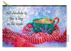 Carry-all Pouch featuring the digital art Hot Chocolate 2016 by Kathryn Strick