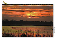 Carry-all Pouch featuring the photograph Hot Mud Flats by Laura Ragland