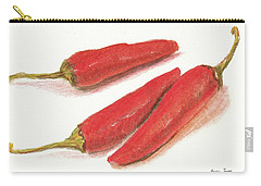 Hot Peppers Carry-all Pouch by Barry Jones