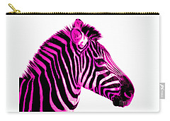 Hot Pink Zebra Carry-all Pouch by Rebecca Margraf