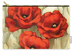 Hot Red Poppies Carry-all Pouch