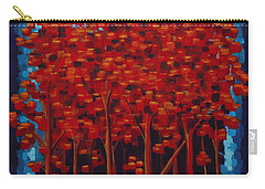 Carry-all Pouch featuring the painting Hot Reds by Holly Carmichael