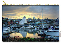 Carry-all Pouch featuring the photograph Hot Shop Cone Cloudy Twilight by Chris Anderson