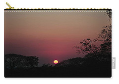 Carry-all Pouch featuring the photograph Hot Tropical Sunset by Ellen Barron O'Reilly