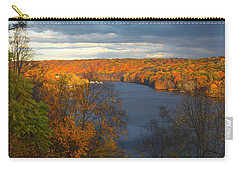 Carry-all Pouch featuring the photograph Housatonic In Autumn by Karol Livote