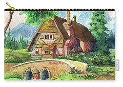 House Along The River Carry-all Pouch by Alban Dizdari