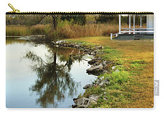 House By The Edge Of The Lake Carry-all Pouch by Jill Battaglia