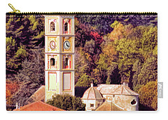 House, Church And Castle Carry-all Pouch by Jennie Breeze