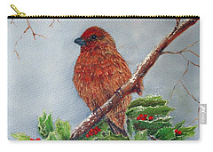 House Finch In Winter Carry-all Pouch