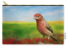 House Finch Carry-all Pouch by Steven Richardson