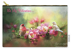 House Finch Valentine Carry-all Pouch by Janette Boyd