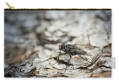 Carry-all Pouch featuring the photograph House Fly by Chevy Fleet