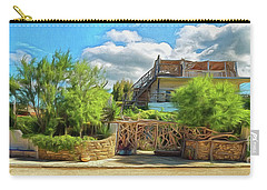 Carry-all Pouch featuring the photograph House In Agios Georgios Corfu  by Leigh Kemp